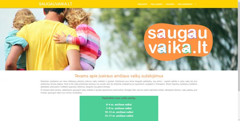 Sukurta svetainė, padėsianti tėvams apsaugoti vaikus nuo traumų ir kitų sužalojimų